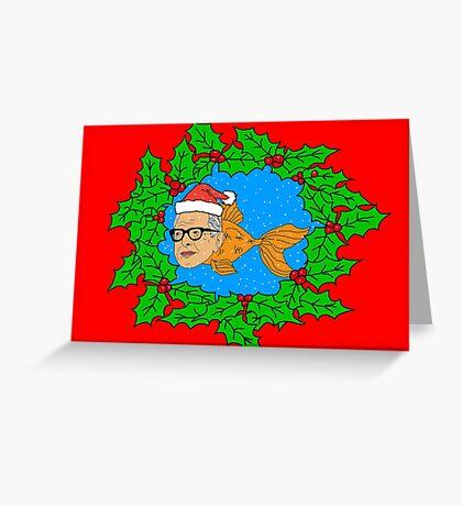 Festive Jeff Goldfish Greeting Card