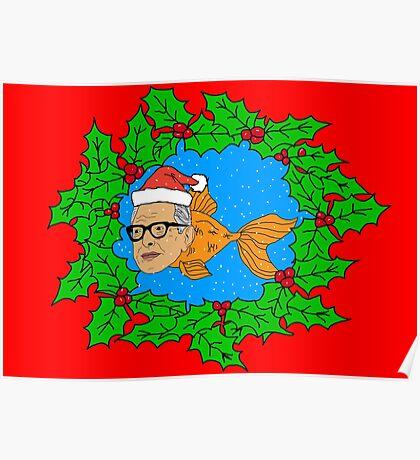 Festive Jeff Goldfish Poster