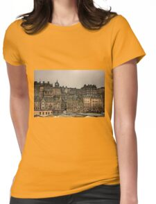 Crowded Old Town Womens Fitted T-Shirt
