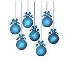 Blue Ornaments #2 by LaRoach