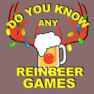 Reindeer Reinbeer Games, Beer, Alcohol, Hops by LouisianaLady