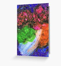 Space Garden in Technicolor Greeting Card