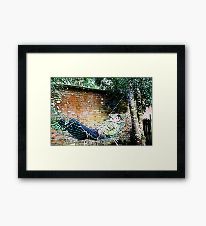 The Lazy Scarecrow Framed Print