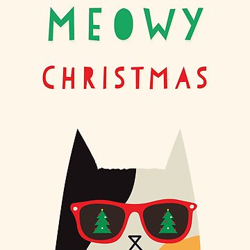 Meowy Christmas  by bubbliciousart