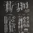 Clarinet Group of Patent Blueprints - Chalkboard by MadebyDesign