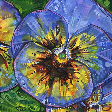 Pansy painting - 2018 by gwennpaints