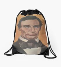 Vintage Portrait of Abraham Lincoln (1895) Drawstring Bag