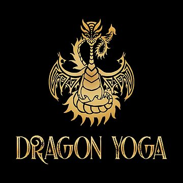 Golden Dragon Yoga by jitterfly