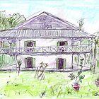 Haus des Doktors, Kolonie der Alten Lepra, Curieuse Island von John Douglas