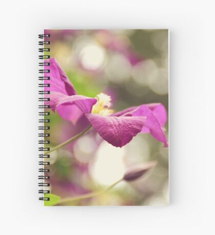 AFE Purple Clematis Nature Photography Spiral Notebook