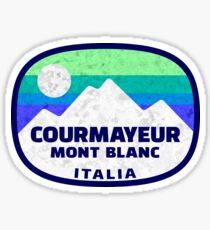 Ski Courmayeur Italy Skiing Mont Blanc Italia Matterhorn Sticker