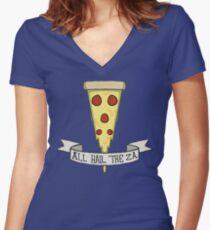 All Hail The Za Women's Fitted V-Neck T-Shirt