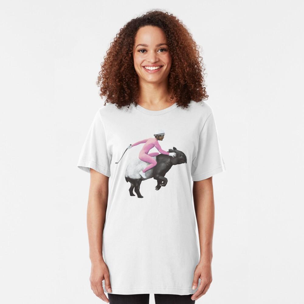 Turbo Tapir | Digital Illustration Slim Fit T-Shirt