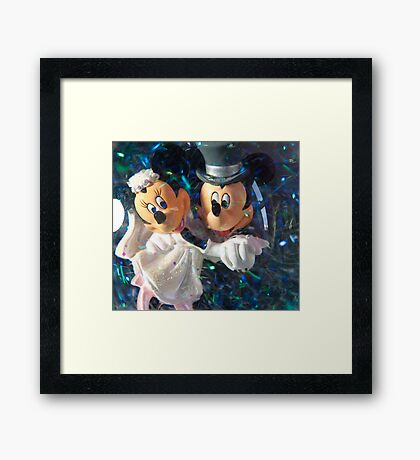 Micky Mouse's Wedding Framed Print