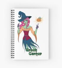 Green Corner Witch Spiral Notebook