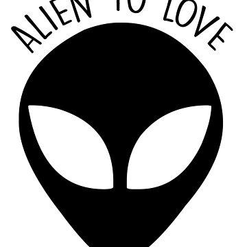 ALIEN TO LOVE (black) by eileendiaries