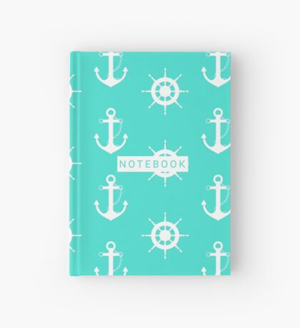 AFE Turquoise Anchor and Helm Wheel Hardcover Journal