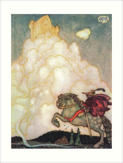 Das Mädchen im Schloss der Rosigen Wolken - John Bauer von forgottenbeauty