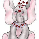 I love elephants by redqueenself