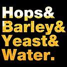 Beer Helvetica Name List Hops Barley Yeast Water  by fishbiscuit