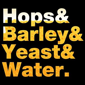 Beer Helvetica Name List Hops Barley Yeast Water  by fishbiscuit