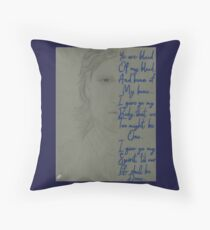 Outlander Jamie Frasier Gaelic Vows Throw Pillow