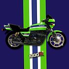The iconic Kawasaki 1000R Motorcycle design by MotorManiac  by MotorManiaTees