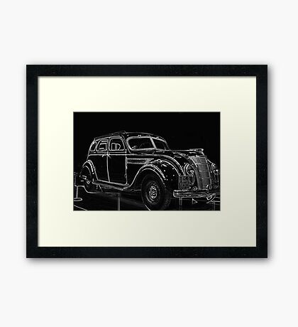 Old Car (Standard Eight) Framed Print