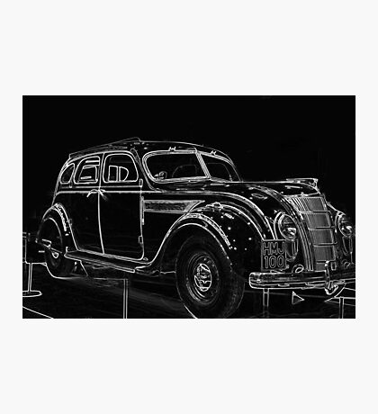 Old Car (Standard Eight) Photographic Print