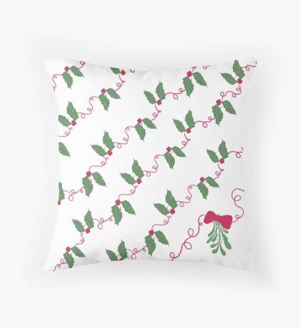 Jolly Holly Throw Pillow
