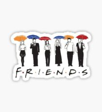 F R I E N D S - with Characters  Sticker
