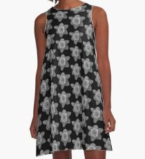 Daffodil in Black and White A-Line Dress