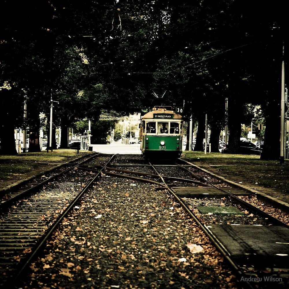 Melbourne tram by Andrew Wilson