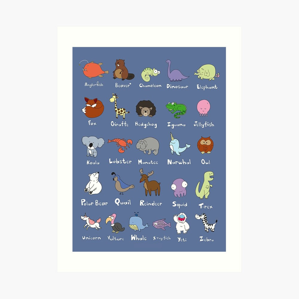 The Animal Alphabet Art Print
