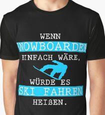 Snowboarding   Snowboarding winter sports gift Graphic T-Shirt