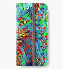 CAT POINT PAINTING iPhone Wallet/Case/Skin
