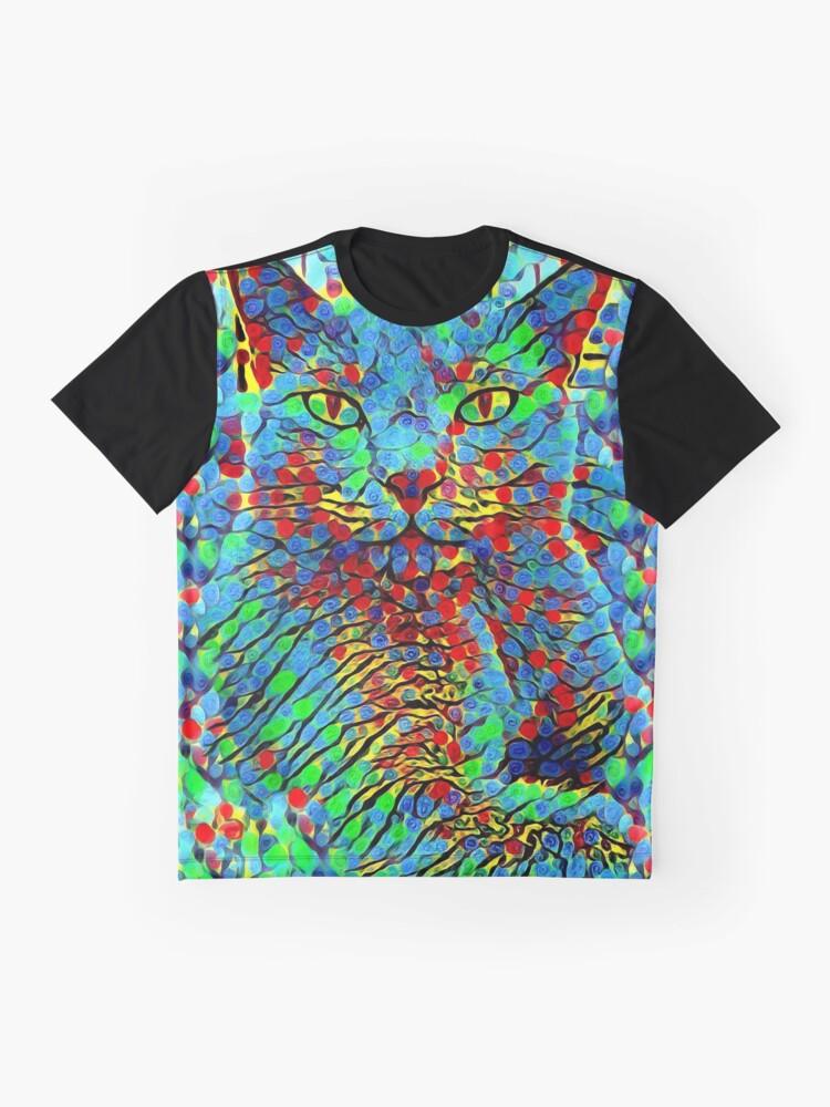 Alternative Ansicht von CAT POINT PAINTING Grafik T-Shirt