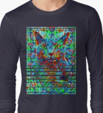 CAT POINT PAINTING Long Sleeve T-Shirt