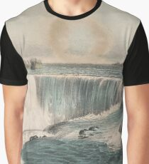 Vintage Illustration of Niagara Falls (1907) Graphic T-Shirt