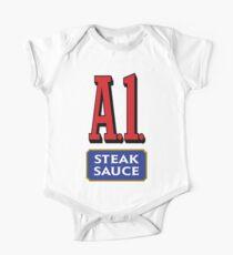A1 Sauce Short Sleeve Baby One-Piece