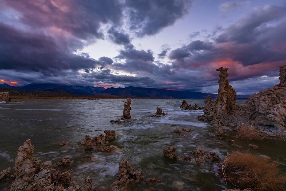 Mono Lake South Tufa, Sierra Sunset by photosbyflood