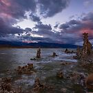 Mono Lake South Tufa, Sierra Sunset by photosbyflood