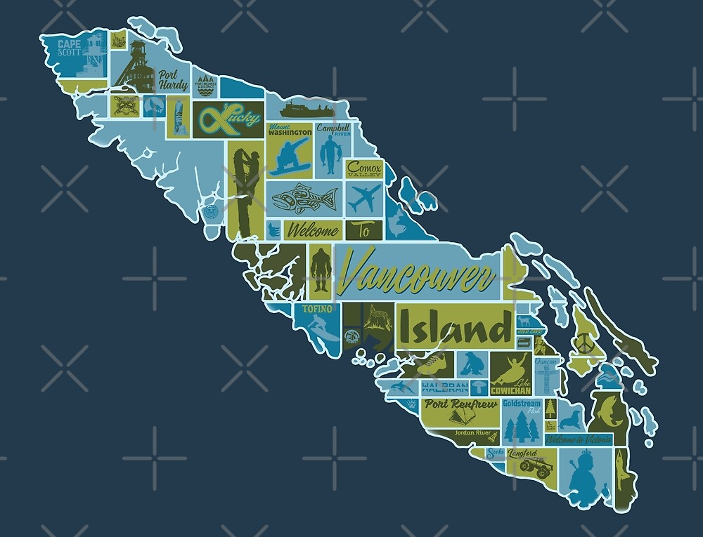 Vancouver Island: Pictorial Map by jesseladret