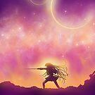 Schöne Animelandschaftsdigitalkunst von LunarAphelion