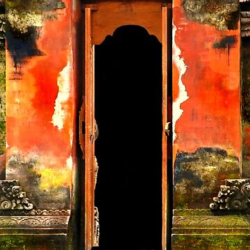 Door in Pura in Bali by Charuhas