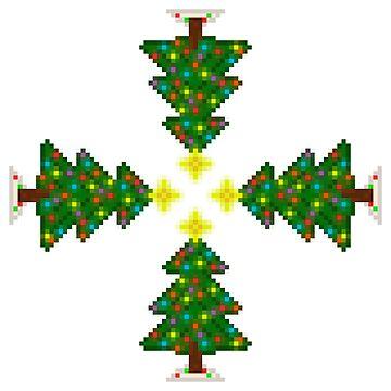 Pixel Christmas Tree Kaleidoscope by gkillerb