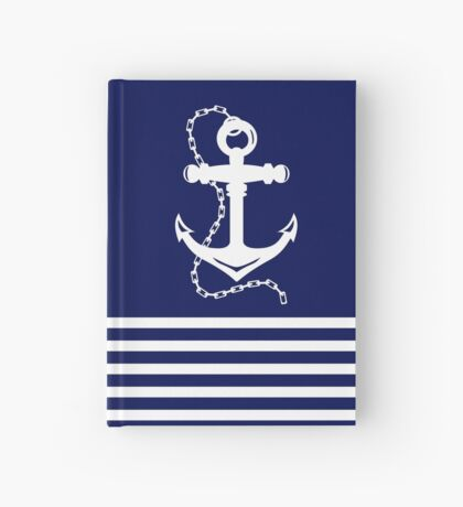 AFE Navy & White Anchor and Chain Hardcover Journal