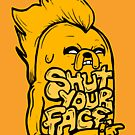 """Rockstar Jake from Adventure Time™ """"Shut Your Face"""" by sketchNkustom"""