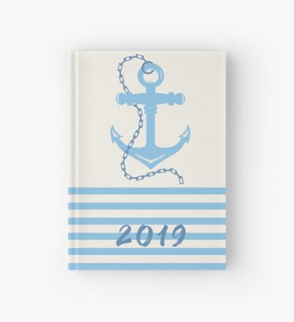 AFE Baby Blue Anchor & Chain, Nautical Art Hardcover Journal