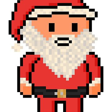 Christmas Pixel Santa Claus by gkillerb